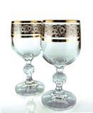 Dois cálices de cristal Foto de Stock