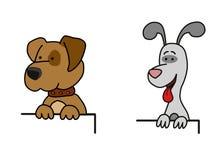 Dois cães Ilustração do Vetor