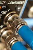 Dois cabos do SDI-vídeo de HD Fotografia de Stock