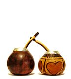 Dois calabashes Foto de Stock Royalty Free