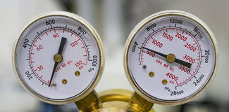 Dois calibres de pressão Foto de Stock