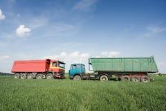 Dois caminhões Foto de Stock Royalty Free