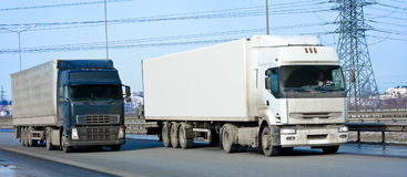 Dois caminhões imagem de stock royalty free