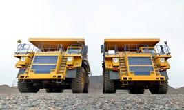 Dois caminhões basculantes Imagem de Stock Royalty Free