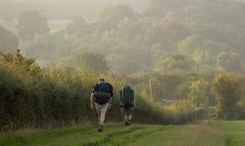 Dois caminhantes Fotografia de Stock