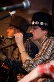 Dois cantores Imagem de Stock Royalty Free