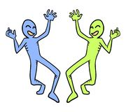 Dois caráteres engraçados Fotos de Stock Royalty Free