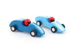 Dois carros de corrida do brinquedo Fotos de Stock Royalty Free