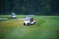Dois carros de golfe foto de stock royalty free