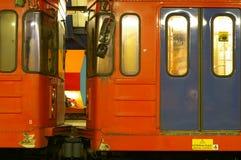 Dois carros de metro Fotografia de Stock