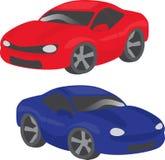 Dois carros dos desenhos animados ilustração royalty free