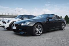 Dois carros modernos Fotografia de Stock