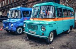Dois carros poloneses Foto de Stock