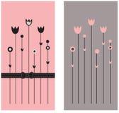 Dois cartões ilustração royalty free