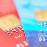 Dois cartões de crédito Imagens de Stock