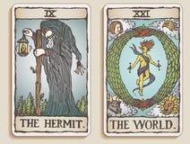 Dois cartões de Tarot v.4 Foto de Stock