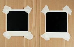 Dois cartões em branco da foto imagens de stock royalty free