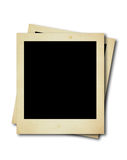 Dois cartões em branco do polaroid Imagem de Stock