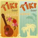 Dois cartões para barras de Tiki Fotos de Stock Royalty Free