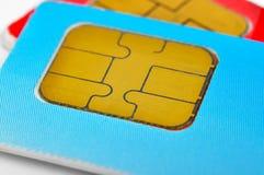Dois cartões de SIM Fotografia de Stock