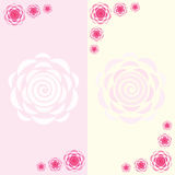 Dois cartões simples Imagens de Stock