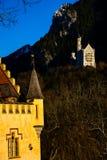 Dois castelos alemães conhecidos todo o mundo do arround imagem de stock