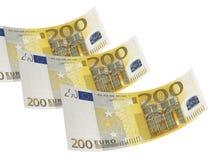 Dois cem colagens da conta do euro isoladas no branco Imagem de Stock Royalty Free