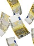 Dois cem colagens da conta do euro isoladas no branco Fotos de Stock