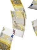 Dois cem colagens da conta do euro isoladas no branco Fotografia de Stock