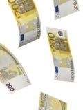 Dois cem colagens da conta do euro isoladas no branco Foto de Stock