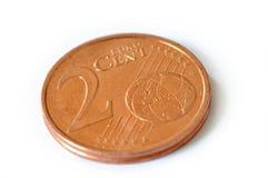 Dois centavos do euro fotografia de stock royalty free