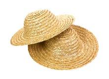 Dois chapéus de palha Imagens de Stock