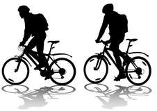 Dois ciclistas ilustração stock
