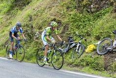 Dois ciclistas Imagem de Stock Royalty Free