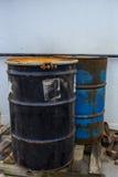 Dois cilindros de aço foto de stock