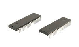 Dois circuitos integrados Imagens de Stock Royalty Free