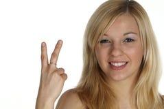 Dois com dedo Fotografia de Stock Royalty Free