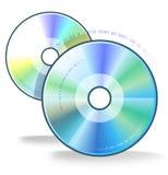 Dois compacts-disc ilustração stock