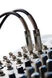 Conectores audio imagens de stock