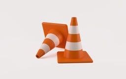 Dois cones do tráfego Fotos de Stock
