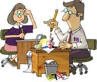 Dois contabilistas ilustração stock