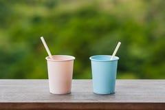 Dois copos da água Imagem de Stock Royalty Free