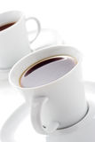 Dois copos de café Foto de Stock