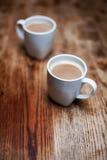 Dois copos de café Imagens de Stock