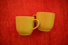 Dois copos de café Fotos de Stock