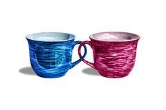 Dois copos de café Fotografia de Stock Royalty Free