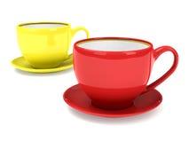 Dois copos de chá Fotografia de Stock Royalty Free