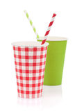 Dois copos de papel Foto de Stock