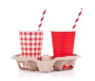 Dois copos de papel Fotografia de Stock Royalty Free
