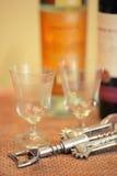 Dois copos de vinho Imagens de Stock Royalty Free